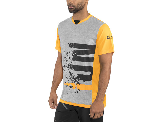 ION Letters Scrub AMP T-Shirt À Manches Courtes Homme, smiley yellow